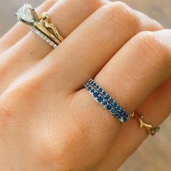 Teton Stacking Ring Jenny Lake Double Stack Sapphire Bands Only - Jackson Hole Jewelry Company