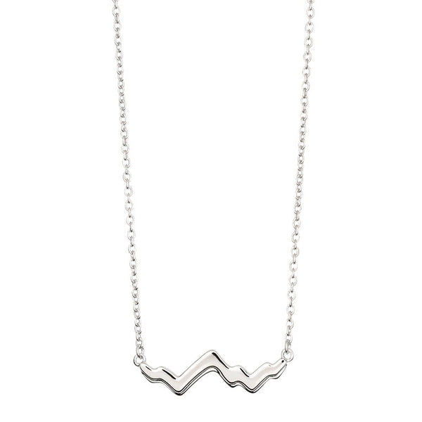 Grand Tetons Necklace Mountain Jewelry Silver Mountain Necklace