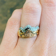 Moulton Barn Three Stack 14 Karat Stacking Rings - Jackson Hole Jewelry Company