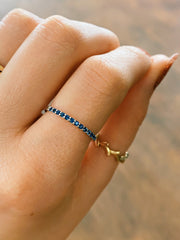 Teton Stacking Ring Snake River Sapphire Band Only - Jackson Hole Jewelry Company