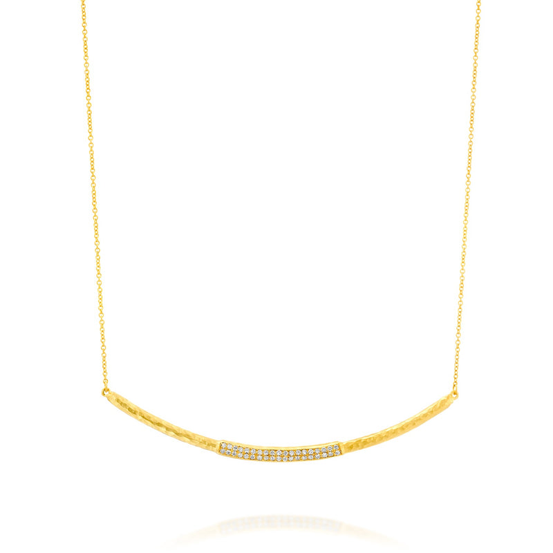 14k Marika Desert Gold Diamond Bar Necklace