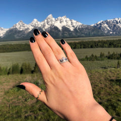 Limited Edition 18 Karat White Teton Stacking Rings™ (3 Ring Set) - Jackson Hole Jewelry Company