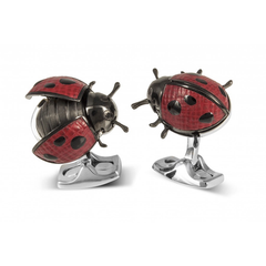 D&F Ladybug Cufflinks Made From Base Metal - Jackson Hole Jewelry Company