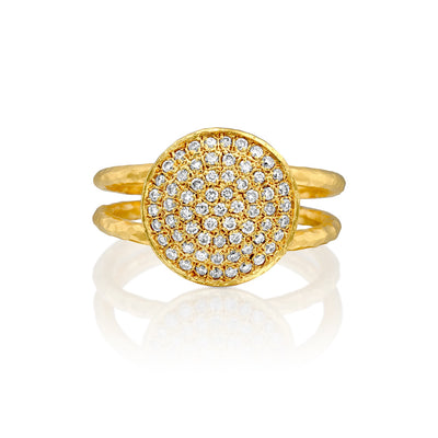 14k Marika Desert Gold Diamond Cluster Ring - Jackson Hole Jewelry Company