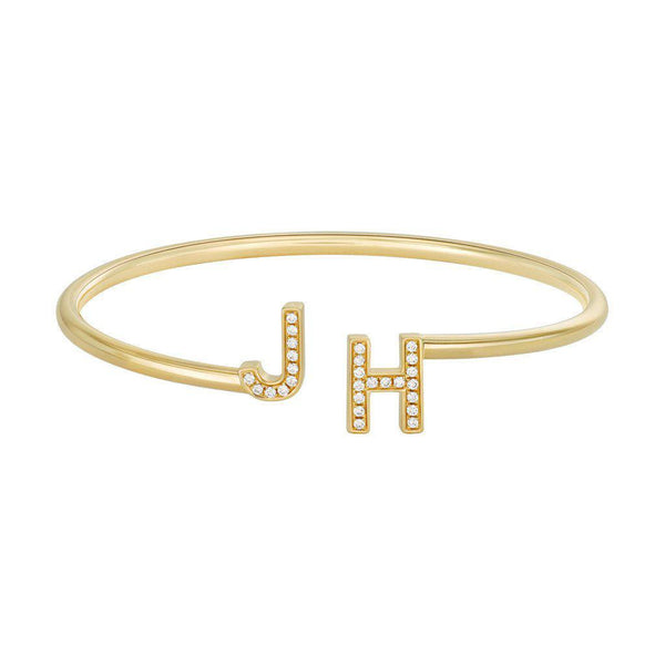 JH 18K Yellow Gold Bangle Bracelet