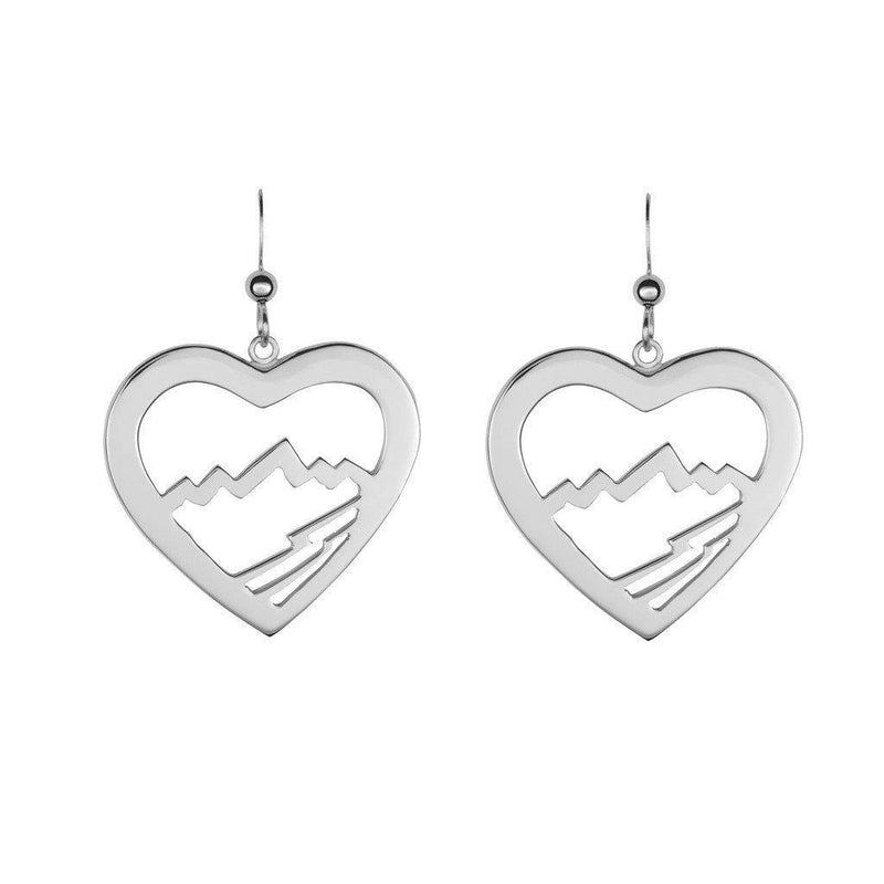 Large Heart Teton Earrings - Jackson Hole Jewelry Company  - 2