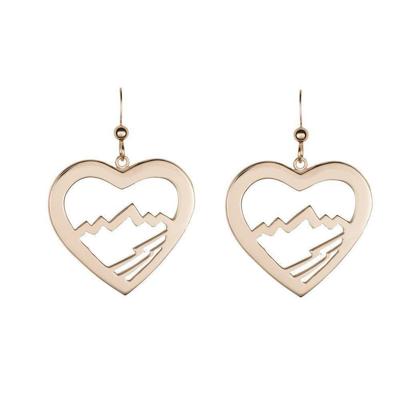 Large Heart Teton Earrings - Jackson Hole Jewelry Company  - 1