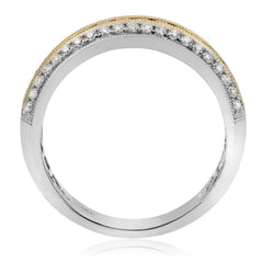 Layered Two Tone Diamond Band - Jackson Hole Jewelry Company