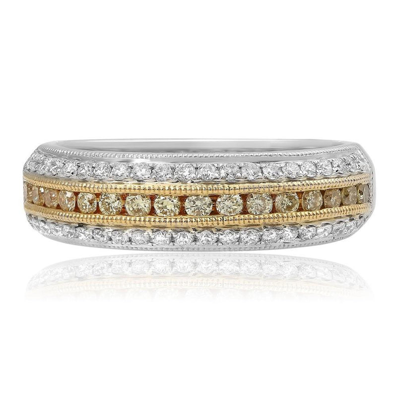 Layered Two Tone Diamond Band - Jackson Hole Jewelry Company  - 1