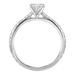 Le PeTeton Oval French Cut Engagement Solitaire Ring Set - Jackson Hole Jewelry Company