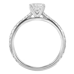 Le PeTeton Princess French Cut Engagement Solitaire Ring Set - Jackson Hole Jewelry Company