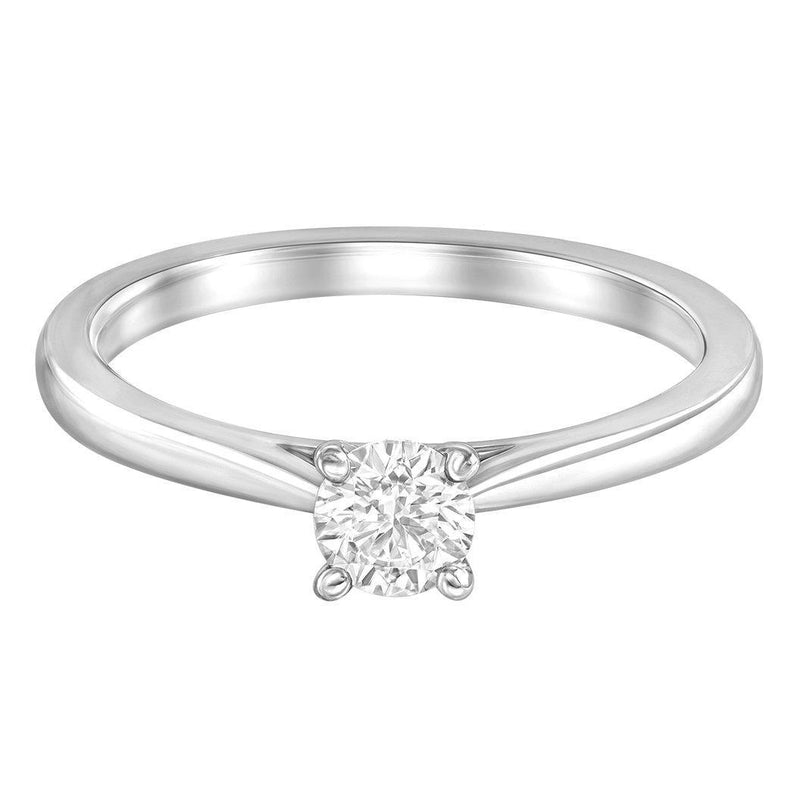 Le PeTeton Round Engagement Ring Solitaire Ring Set