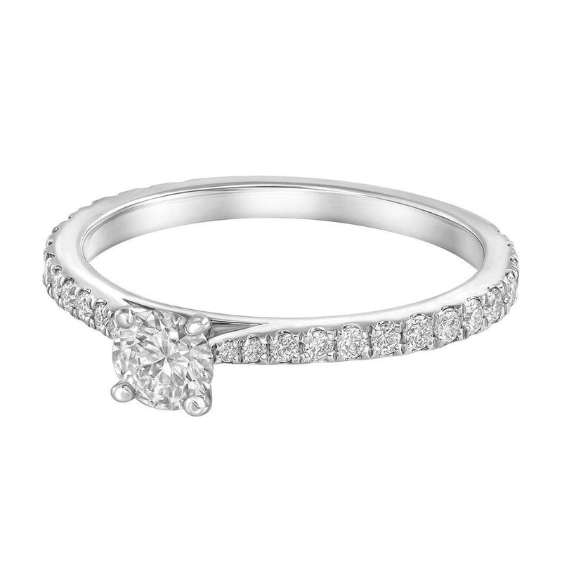 Le PeTeton Round French Cut Engagement Solitaire Ring Set