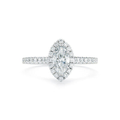 Marquise Pave Halo Diamond Ring - Jackson Hole Jewelry Company