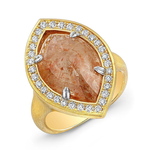 Marquise Translucent Pink Diamond Ring