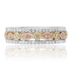 Three Toned with a Vintage Style with Diamond Ring. - Jackson Hole Jewelry Company