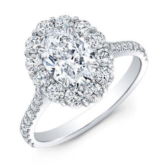 Oval Cluster Diamond Engagement Ring - Jackson Hole Jewelry Company