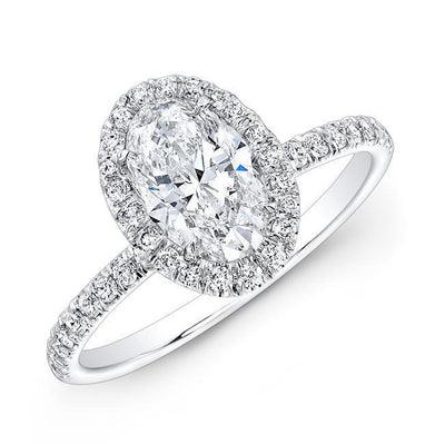 Oval Halo Diamond Engagement Ring - Jackson Hole Jewelry Company