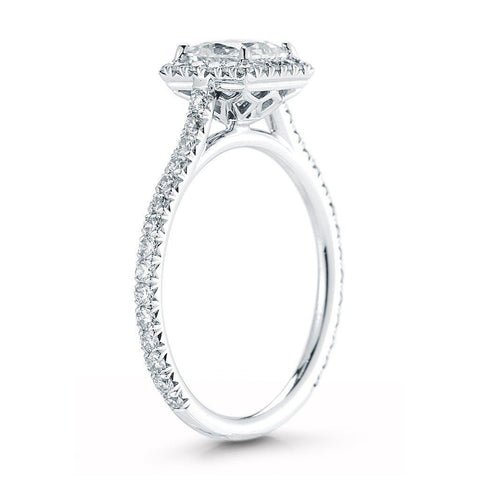 Princess Cut Pave Halo Diamond Ring - Jackson Hole Jewelry Company