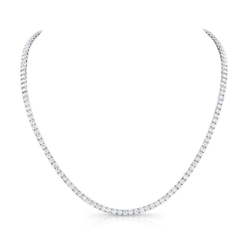 "Rahaminov 18"" Diamond Opera Necklace 28.42 Carat"
