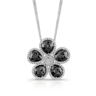 Rahaminov Black Diamond Flower Necklace - Jackson Hole Jewelry Company