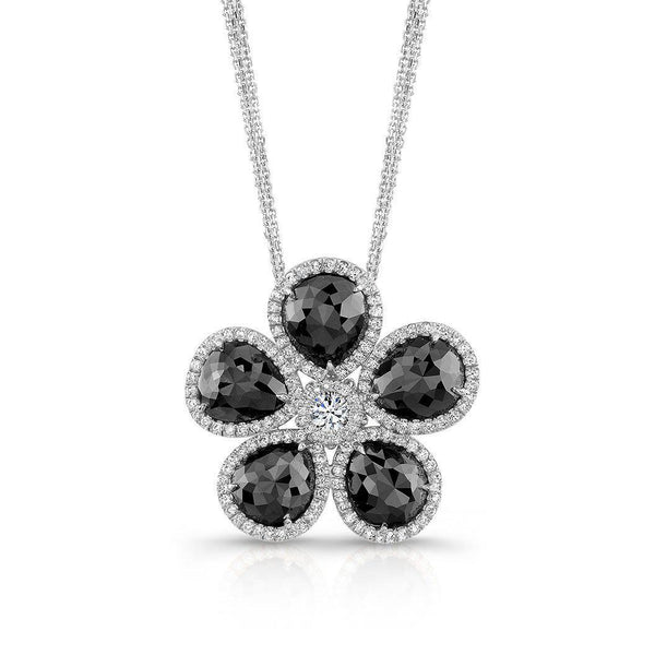 Rahaminov Black Diamond Flower Necklace