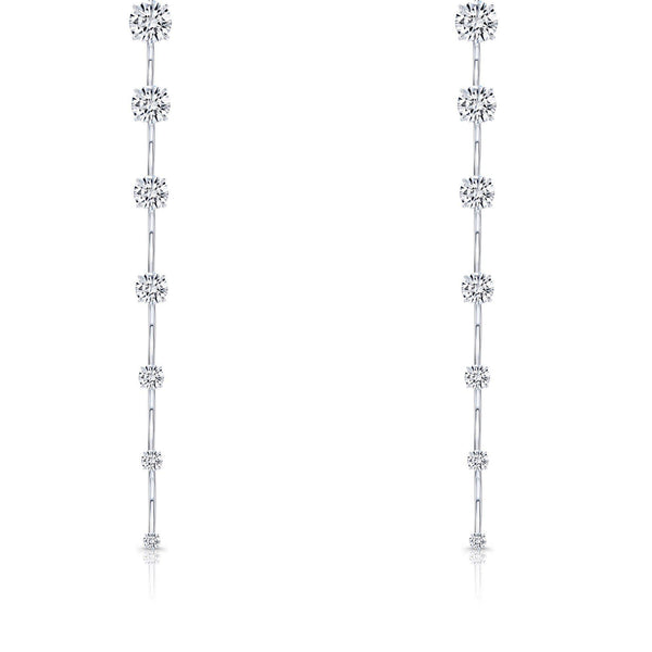 Rahaminov Diamond Bar Dangle Earrings