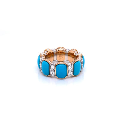 Picchiotti Xpandable™ Turquoise and Diamond Ring - Jackson Hole Jewelry Company