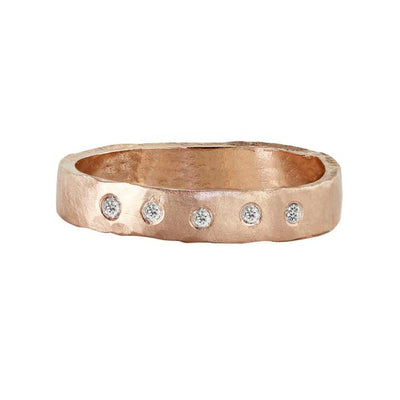 Julez Bryant 14k Rose Gold Raya Ring with White Diamonds - Jackson Hole Jewelry Company