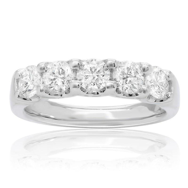 Round Cut Diamond Band - Jackson Hole Jewelry Company  - 1