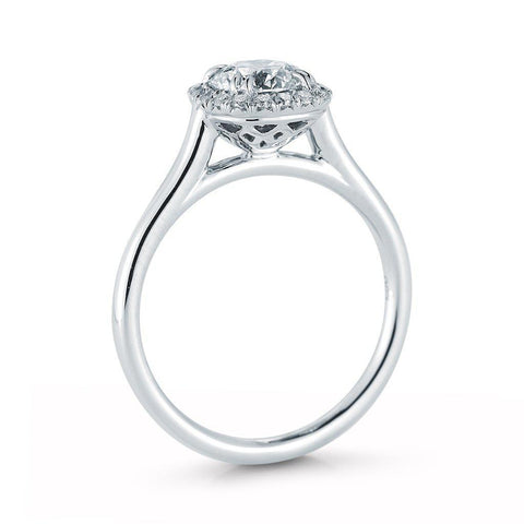 Round Halo Diamond Ring - Jackson Hole Jewelry Company
