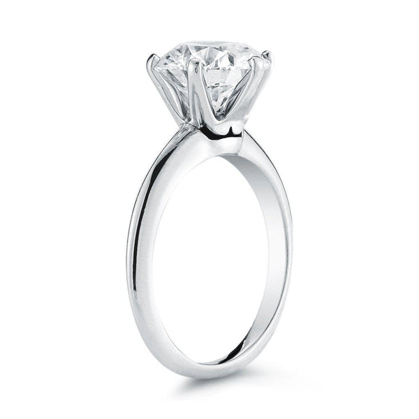 Round Knife Edge Diamond Ring