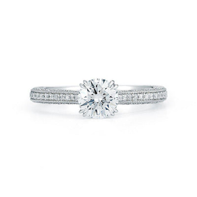 Round Micro Pave Diamond Ring - Jackson Hole Jewelry Company