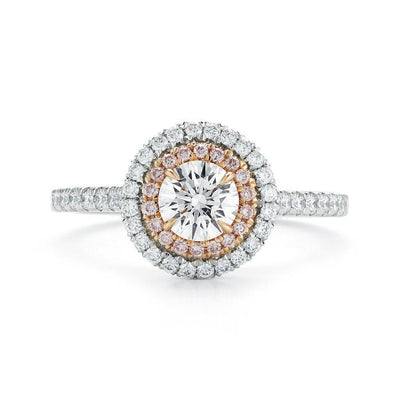 Round Pave Halo Diamond Ring - Jackson Hole Jewelry Company
