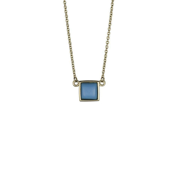 Sleeping Beauty Turquoise Square Necklace
