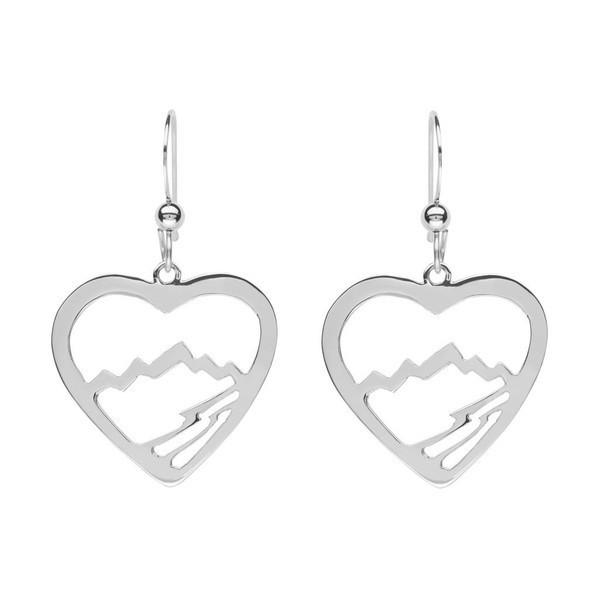 Small Heart Teton Earrings - Jackson Hole Jewelry Company  - 2