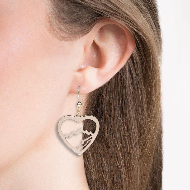 Small Heart Teton Earrings - Jackson Hole Jewelry Company  - 3