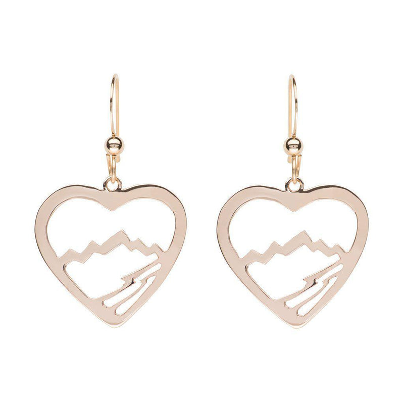 Small Heart Teton Earrings - Jackson Hole Jewelry Company  - 1