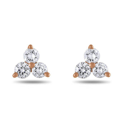 Small Trinity Diamond Stud Earrings - Jackson Hole Jewelry Company