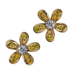 Teton Wildflower Medium Yellow Sapphire Post Earrings - Jackson Hole Jewelry Company