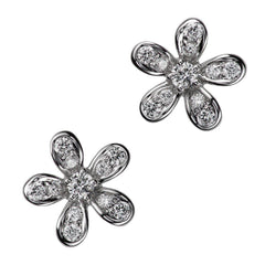 Teton Wildflower Small Post Diamond Earrings - Jackson Hole Jewelry Company