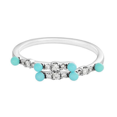 Tiny Turquoise Overlapping Ring - Jackson Hole Jewelry Company