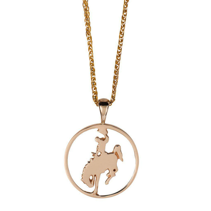 Wyoming Bronco Cutout Pendant - Jackson Hole Jewelry Company  - 1