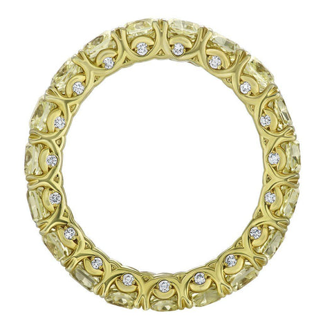 Yellow Diamond Eternity Ring - Jackson Hole Jewelry Company