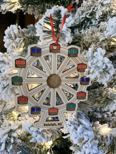 Ferris Wheel Ornament, Raleigh NC - Betsy Jane Studios