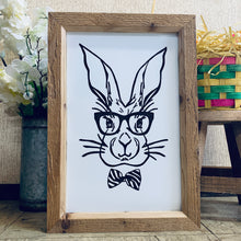 Load image into Gallery viewer, Bunny with Glasses Framed