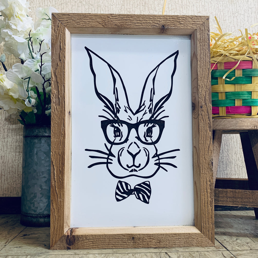 Bunny with Glasses Framed