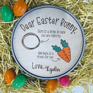 Easter Bunny Treat Plate (personalized)