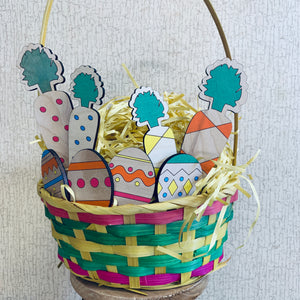 Carrot & Egg Wooden Decor