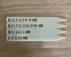 Acrylic Plant Markers for Herbs - Betsy Jane Studios